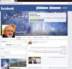 Javad Zarif auf Facebook