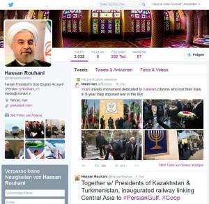 Präsident Rouhani auf Twitter