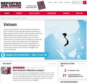 Internetzensur Vietnam
