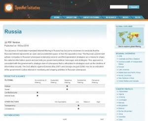 OpenNet Bericht zu Russland