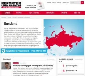 Reporter Ohne Grenzen zu Russland