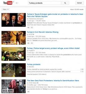 YouTube Videos zu Protesten in der Türkei