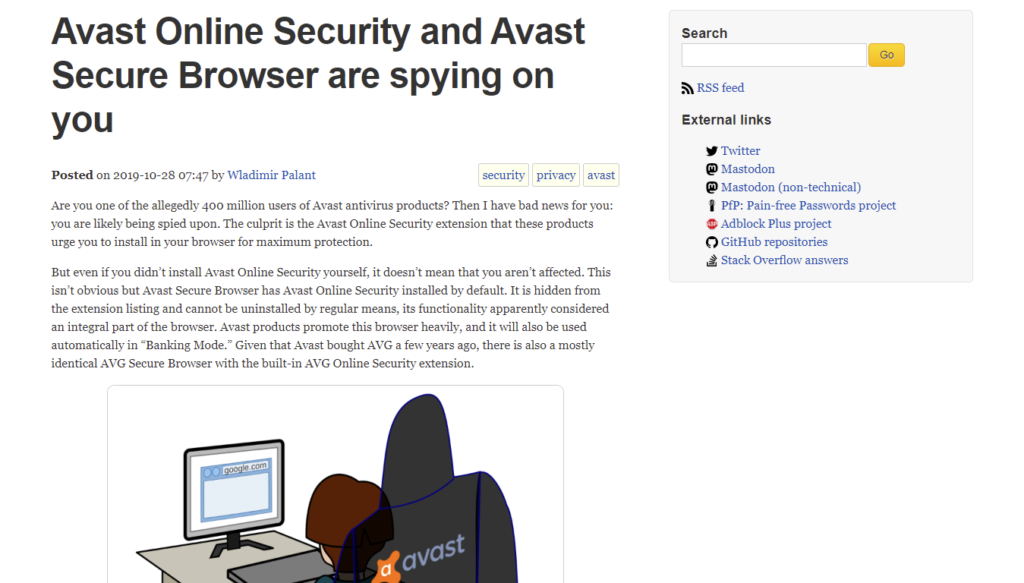Avast Online Security and Avast Secure Browser are spying on you