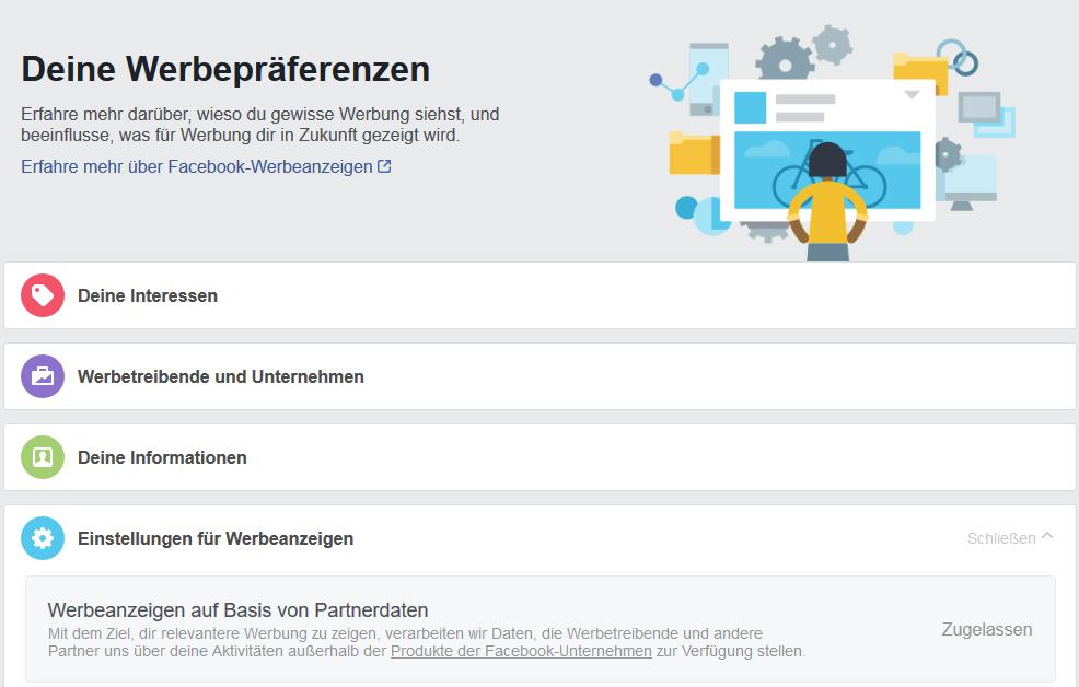 Facebook Werbeanzeigen Datenschutz
